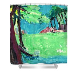 Fairway In Early Spring Shower Curtain