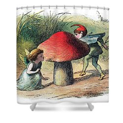 Fairy And Elf-legendary Creatures Shower Curtain by Photo Researchers