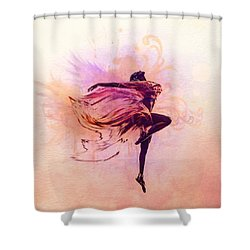 Fairy Dance Shower Curtain by Lilia D