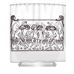 Fairy Illustration From 1896 Shower Curtain