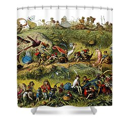 Fairy Procession Shower Curtain by Photo Researchers