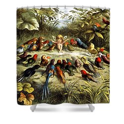 Fairy Rehearsal Shower Curtain by Photo Researchers