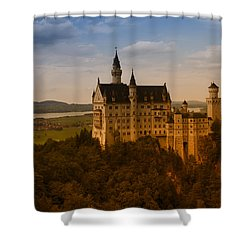 Fairy Tale Castle Shower Curtain by Miguel Winterpacht