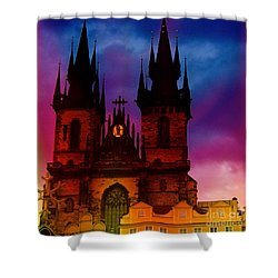 Fairy Tale Castle Prague Shower Curtain
