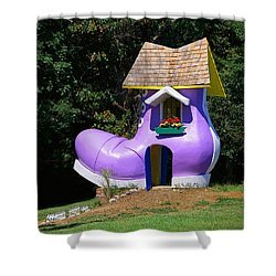 Fairy Tale Shoe House Shower Curtain by John Cardamone