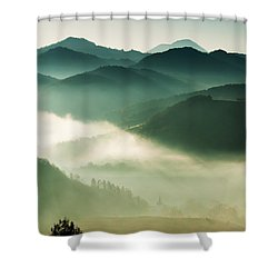 Fairyland Morning Shower Curtain by Mircea Costina Photography
