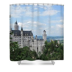 Shower Curtain featuring the photograph Fairytale Castle by Pema Hou