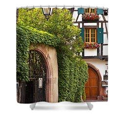 Fairytale Village Shower Curtain by Brian Jannsen