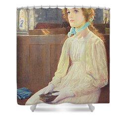 Faith Shower Curtain by Arthur Hughes