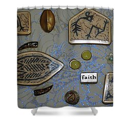 Faith Collage Shower Curtain