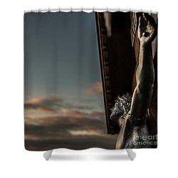 Faith Shower Curtain by Hannes Cmarits