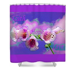 Faith-hope-love Shower Curtain