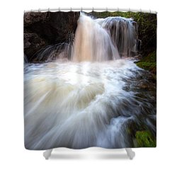 Shower Curtain featuring the photograph Fall And Splash by David Andersen