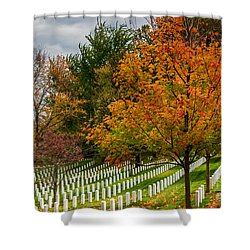 Fall Arlington National Cemetery  Shower Curtain