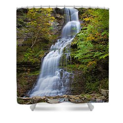 Fall At Cathedral Falls Shower Curtain