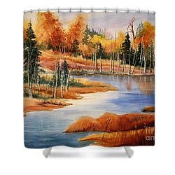 Fall At Elk Island  Shower Curtain by Mohamed Hirji
