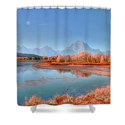 Fall At Oxbow Bend Shower Curtain by Kathleen Struckle