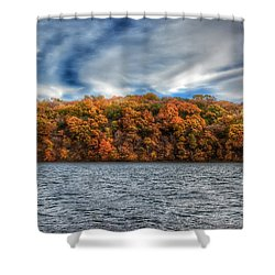Fall At The Lake Shower Curtain