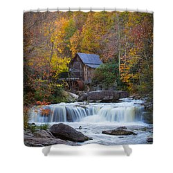 Mill At Babcock State Park Shower Curtain