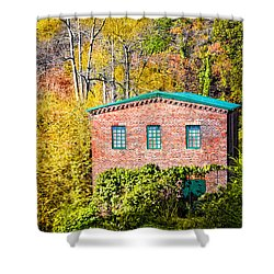 Fall At The Old Mill In Roswell Shower Curtain by Mark Tisdale