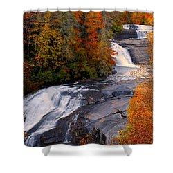 Fall At Triple Falls Shower Curtain