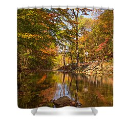 Fall At Valley Creek  Shower Curtain by Rima Biswas
