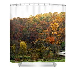 Fall At Valley Forge Shower Curtain by Skip Willits
