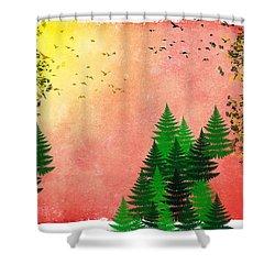 Fall Autumn Four Seasons Art Series Shower Curtain by Christina Rollo
