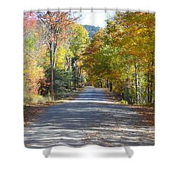 Fall Backroad Shower Curtain