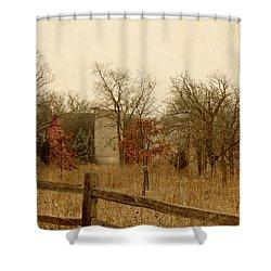 Fall Barn Shower Curtain by Margie Hurwich