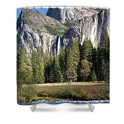 Shower Curtain featuring the photograph Yosemite National Park-sentinel Rock by David Millenheft
