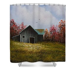 Fall Begins Shower Curtain by C Steele