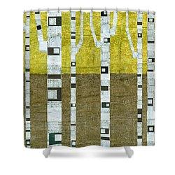 Fall Birches  Shower Curtain