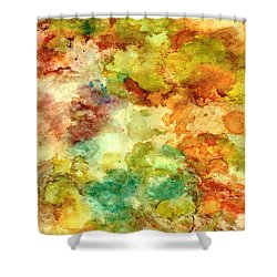 Fall Bouquet Shower Curtain by Rosie Brown