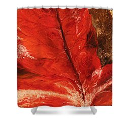 Shower Curtain featuring the painting Fall Calmness by Melinda Cummings