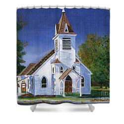 Fall Church Shower Curtain