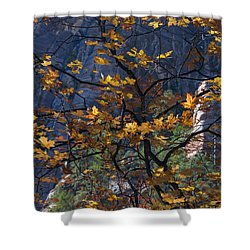 West Fork Tapestry Shower Curtain