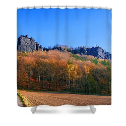 Fall Colors Around The Lilienstein Shower Curtain
