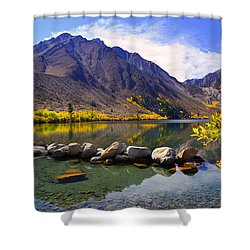 Fall Colors At Convict Lake  Shower Curtain