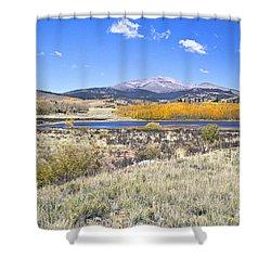 Fall Colors Fairplay Colorado Shower Curtain