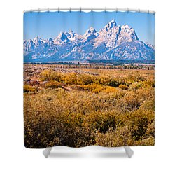 Fall Colors In The Tetons   Shower Curtain by Lars Lentz