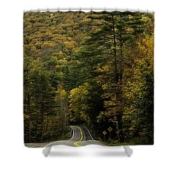 Fall Colors On Mohawk Trail Near Charlemont Shower Curtain