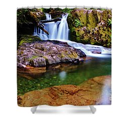 Fall Creek Oregon Shower Curtain