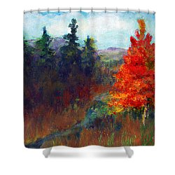 Fall Day Shower Curtain by C Sitton