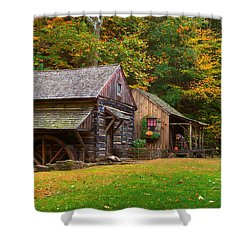 Fall Down On The Farm Shower Curtain