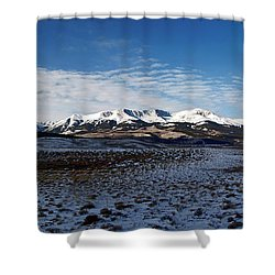 Fall Ends Panorama Shower Curtain by Jeremy Rhoades