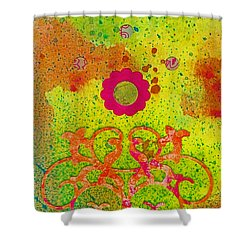 Fall Flowers Shower Curtain by Desiree Paquette