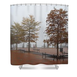 Fall Fog Shower Curtain
