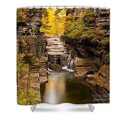 Fall Foliage At Dusk Treman Park Shower Curtain