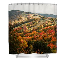 Fall Foliage On Canon Mountain Nh Shower Curtain